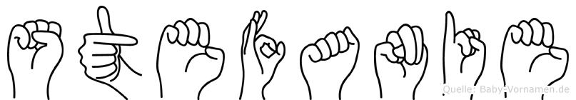 Stefanie in Fingersprache für Gehörlose
