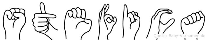 Stefica im Fingeralphabet der Deutschen Gebärdensprache