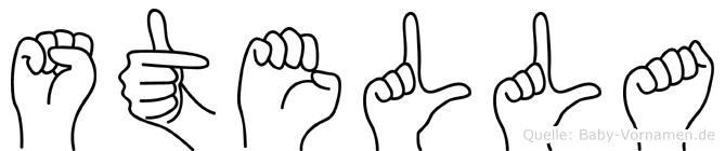 Stella in Fingersprache für Gehörlose
