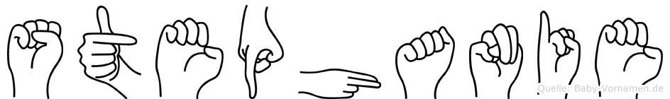 Stephanie in Fingersprache für Gehörlose