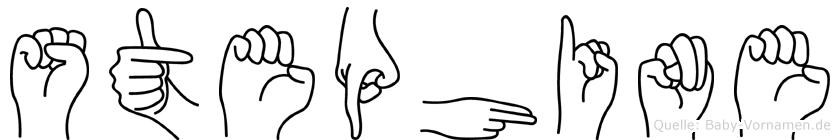 Stephine im Fingeralphabet der Deutschen Gebärdensprache