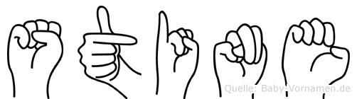 Stine in Fingersprache für Gehörlose