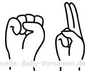 Su in Fingersprache für Gehörlose
