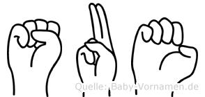 Sue in Fingersprache für Gehörlose