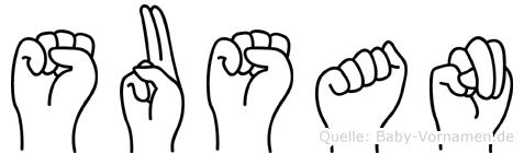 Susan im Fingeralphabet der Deutschen Gebärdensprache