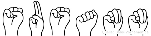 Susann im Fingeralphabet der Deutschen Gebärdensprache