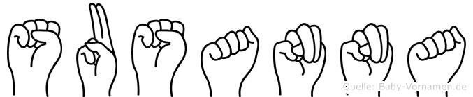 Susanna in Fingersprache für Gehörlose