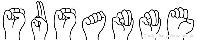 Susanne in Fingersprache für Gehörlose