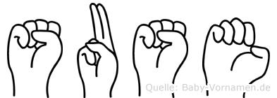 Suse in Fingersprache für Gehörlose