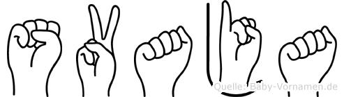 Svaja in Fingersprache für Gehörlose