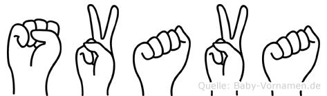 Svava in Fingersprache für Gehörlose