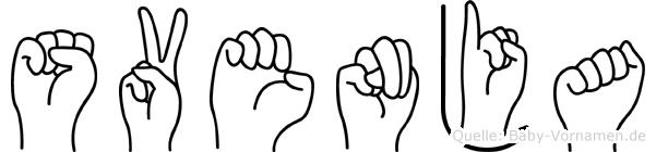 Svenja in Fingersprache für Gehörlose