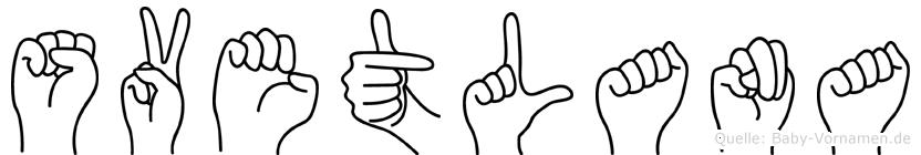 Svetlana in Fingersprache für Gehörlose