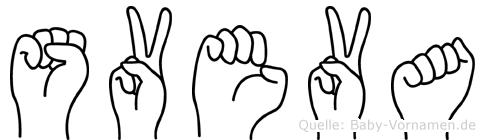 Sveva in Fingersprache für Gehörlose