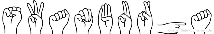 Swanburga in Fingersprache für Gehörlose