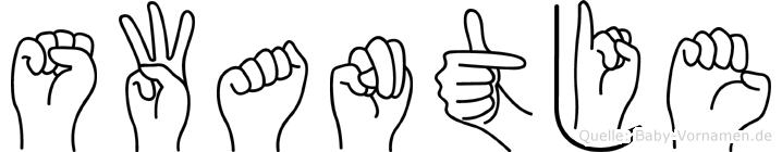 Swantje im Fingeralphabet der Deutschen Gebärdensprache