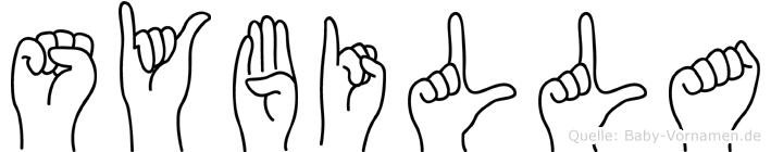 Sybilla im Fingeralphabet der Deutschen Gebärdensprache