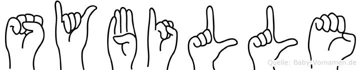 Sybille im Fingeralphabet der Deutschen Gebärdensprache