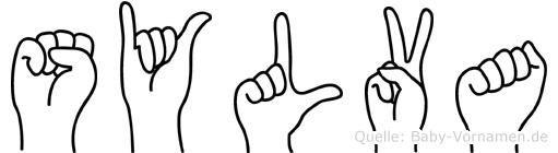 Sylva im Fingeralphabet der Deutschen Gebärdensprache