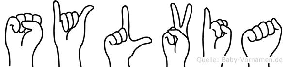 Sylvia in Fingersprache für Gehörlose
