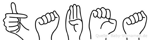 Tabea in Fingersprache für Gehörlose