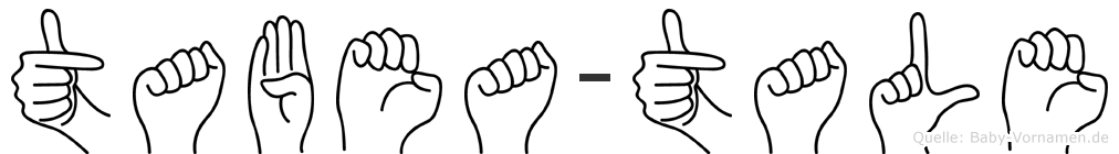 Tabea-Tale im Fingeralphabet der Deutschen Gebärdensprache