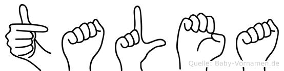 Talea im Fingeralphabet der Deutschen Gebärdensprache