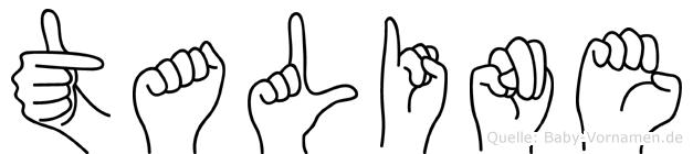 Taline im Fingeralphabet der Deutschen Gebärdensprache