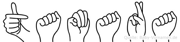 Tamara in Fingersprache für Gehörlose