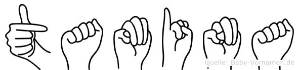 Tamina in Fingersprache für Gehörlose