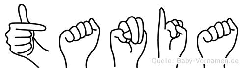 Tania in Fingersprache für Gehörlose