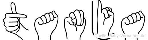 Tanja im Fingeralphabet der Deutschen Gebärdensprache