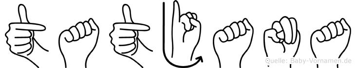 Tatjana in Fingersprache für Gehörlose