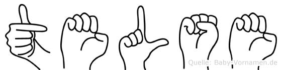 Telse im Fingeralphabet der Deutschen Gebärdensprache