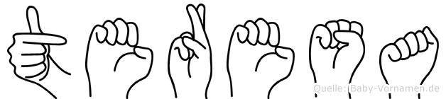 Teresa in Fingersprache für Gehörlose