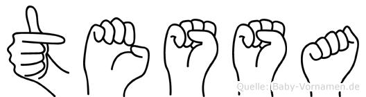 Tessa im Fingeralphabet der Deutschen Gebärdensprache