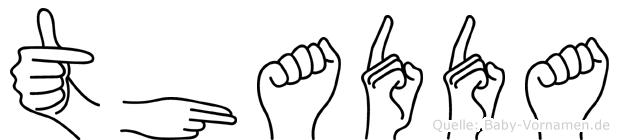 Thaddäa in Fingersprache für Gehörlose