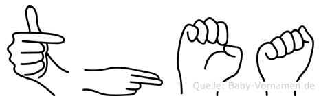 Thea in Fingersprache für Gehörlose