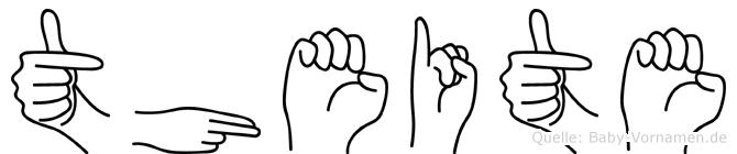 Theite im Fingeralphabet der Deutschen Gebärdensprache