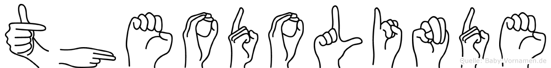 Theodolinde in Fingersprache für Gehörlose