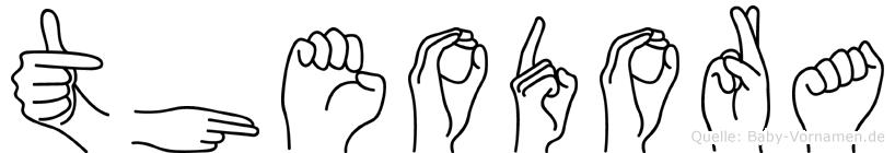 Theodora im Fingeralphabet der Deutschen Gebärdensprache