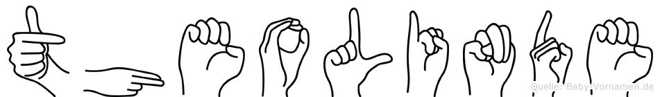 Theolinde im Fingeralphabet der Deutschen Gebärdensprache