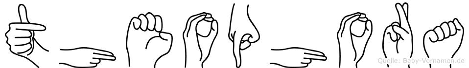 Theophora im Fingeralphabet der Deutschen Gebärdensprache