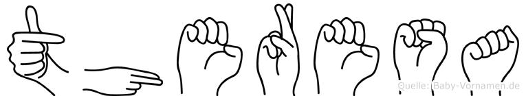 Theresa im Fingeralphabet der Deutschen Gebärdensprache