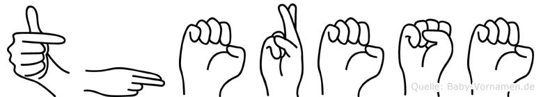 Therese in Fingersprache für Gehörlose