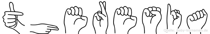 Theresia in Fingersprache für Gehörlose