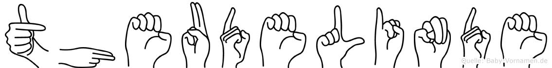 Theudelinde im Fingeralphabet der Deutschen Gebärdensprache