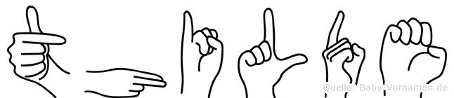 Thilde in Fingersprache für Gehörlose