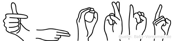 Thorid in Fingersprache für Gehörlose