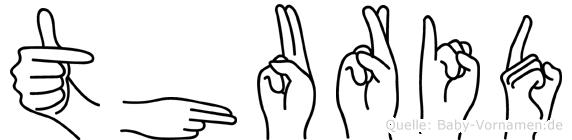 Thurid im Fingeralphabet der Deutschen Gebärdensprache